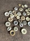 36 Early Antique Bone Buttons Textile Sewing AAFA Patina