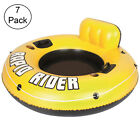 Bestway Rapid Rider 53 Inflatable Raft Tube With Handles Cup Holders 7 Pack