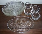 4 Snack Sets + Extras - HOMESTEAD Federal Glass Co. - 10 Pc. - Plates Trays Cups