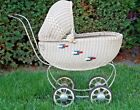 Vintage South Bend Toy  Wicker Doll Carriage Buggy  1920s