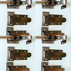 4 sets rare ICE BOX CATCH lever 2 HINGE old style solid Brass heavy offset 4