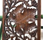 GRAPES LACEWORK LACE PANEL ANTIQUE FRENCH HAND CARVED WOOD CARVING SCULPTURE 8