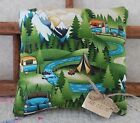THE MOUNTAINS ARE CALLING Camping Trailer Tents Decor Pillow Tuck Gift Idea