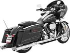Freedom Racing Dual Exhaust System Chrome for Harley Davidson 1995 2008 HD00134