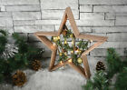 Light Up Wooden Star Christmas Room Decoration LED Battery Op Xmas Ornament
