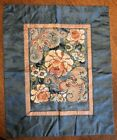 Antique Chinese Floral Embroidery Silk Panel Forbidden Stitch 19-1/2