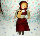 AAFA ANTIQUE CLOTH RAG DOLL GLAZED CHINTZ CLOTHING GREAT DOLL w/ PROVENANCE