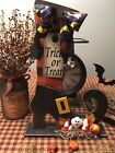 Primitive* Hand-crafted* Ghost w/Candy Corn* Ornies* Shelf Sitter* Halloween
