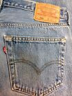 Vtg LEVI STRAUSS Button Fly 501s Mens Denim JEANS 34W 34L 34X34 USA