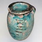 VERY RARE EGYPTIAN FAIENCE COLORED VASE CIRCA 1500-1000 BC