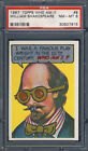 1967 Topps Who Am I? #8 William Shakespeare PSA 8 Unscratched