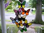 Stained Spring Butterflies Sun catcher Real Glass