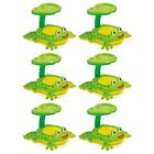Intex 56584EP Froggy Friend Shade Canopy Baby Kiddie Pool Floating Raft 6 Pack