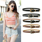 Retro Metal Pin Buckle Womens PU Leather Waist Belts Jeans Pants Straps Vintage