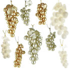 Glittered Grape Bunch Christmas Ornaments 9 Piece