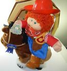 BOXED CABBAGE PATCH KIDS SHOW PONY REDHEAD GIRL W WESTERN OUTFIT NO BIRTH CARD