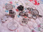 ESTATE VINTAGE STERLING SILVER LOT PINS AND CHARMS