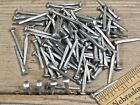 """"""" brad NAILS (200) quantity round small domed head square vintage antique style"""