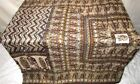 Yellow Coffee Pure Silk 4 yard Vintage Sari refund policy Wall Hanging NR #9B7TT