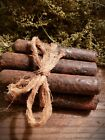 Primitive Extreme Grubby Grungy 5 inch Taper Candles   Set of 6