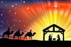 Traditional Christian Christmas Nativity Scene 10X8FT Photo Vinyl Backdrops prop