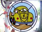 Stained Glass VW Beetle Suncatcher Real Glass