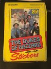 1981 Donruss Dukes Of Hazzard Sticker Complete Box with 36 Wax Packs WOW