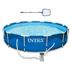 Intex 12 x 30 Metal Frame Above Ground Swimming Pool Filter