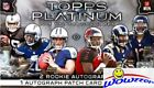 2015 Topps Platinum Football Factory Sealed 12 Box HOBBY CASE-36 AUTOGRAPHS !!