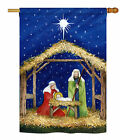 Breeze Decor Nativity of Jesus Winter 2 Sided Polyester 34 x 24 House Flag