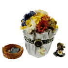 Boyds Bears Resin FLORAS BLOOMIN BUNCH W/ DAISY Mothers Day Treasure Box 82510