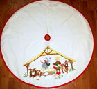 House of Hatten Nativity Little Drummer Boy Manger Donkey Christmas Tree Skirt