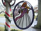 Stained Glass Musial Angel Sun catcher Real Glass