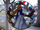 Stained Glass Springtime sun catcher Real Glass