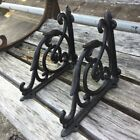 2PCS Cast Iron Antique Shelf Bracket Brackets Garden Braces Shelf Bracke Black