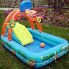 Basketball Stand Slide Inflatable Above Ground Family Swimming Pool for Baby Kid