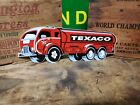 Die Cut Texaco sign  gas oil Tanker Automobile  Engine drive  Vehicle Muscle car