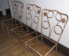 Forties Cast Iron Patio Chairs 1940s Vintage Garden Set x3 for Re Upholstering
