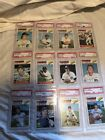 Lot Of 12 1977 Topps Detroit Tigers All PSA 9 Including Fidrych Staub Freehan