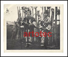 Vintage old photo authentic Ainu people traditional dress and sword LOOK RARE