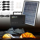 Portable Solar Power Inverter Generator Supply Energy Storage Kit W Solar panel