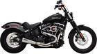 Vance  Hines Stainless Steel 2 Into 1 Upsweep Exhaust for 18 19 Harley Softail