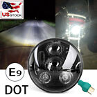 DOT 5-3/4 5.75'' 100W Hi/Lo Sealed Projector Black LED Headlight for Motorcycle