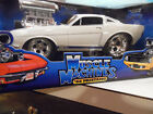 White 66 Mustang GT 350 Muscle Machines 118 diecast model with Box