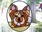 Stained Glass Yorkie Dog Real Glass
