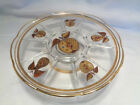 MID CENTURY GEORGES BRIARD   GLASS - CAKE STAND-  FRUIT
