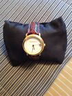GUESS MENS DATE WATCH MULTI COLOR NEW BROWN LEATHER BAND