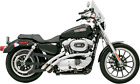 Bassani Radial Sweepers Chrome Exhaust 04 06 Harley Sportster XL 883 1200 Low