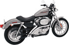 Bassani Chrome Scalloped Radial Sweeper Exhaust for 07 13 Harley Sportster XL
