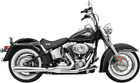 Bassani Chrome Road Rage 2 1 Long Exhaust for 86 17 Harley Softail FLSTN FLSTF